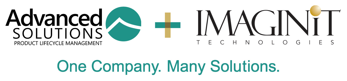 Advanced Solutions PLM and IMAGINiT Technologies combined logo